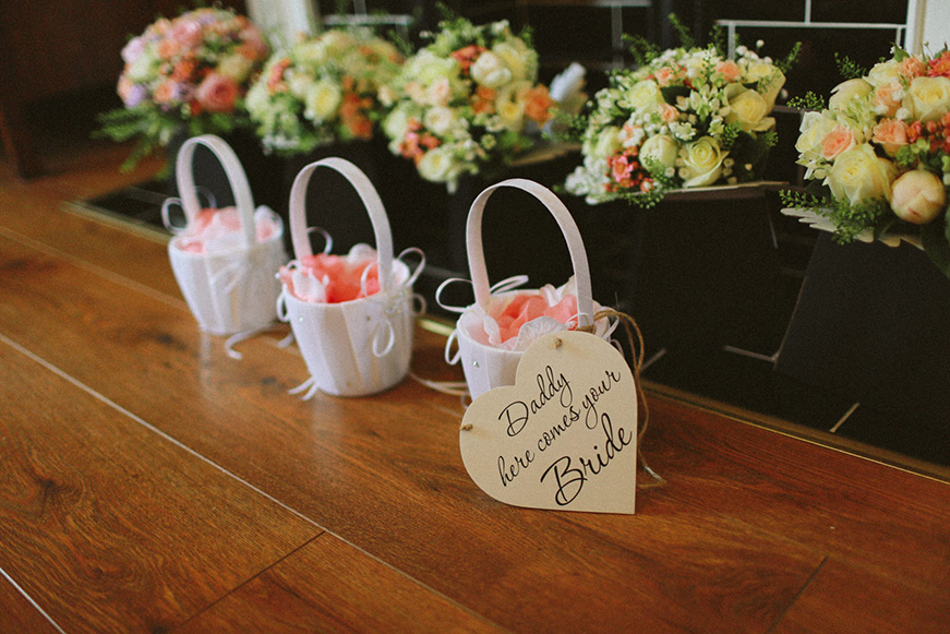 A Bright and Beautiful Coral Themed Wedding in Lancashire - Bouquets   CHWV