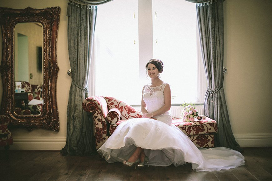 A Bright and Beautiful Coral Themed Wedding in Lancashire - Dress   CHWV