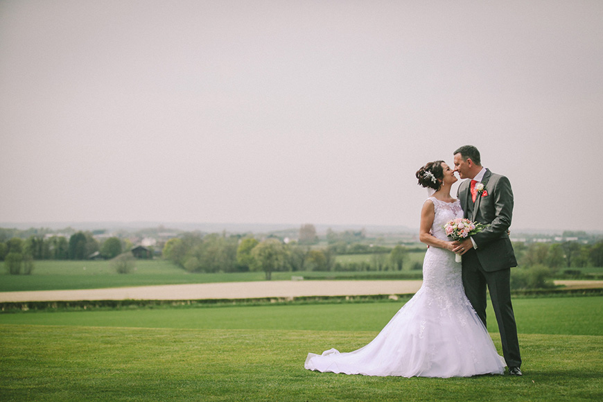 A Bright and Beautiful Coral Themed Wedding in Lancashire - Gardens   CHWV
