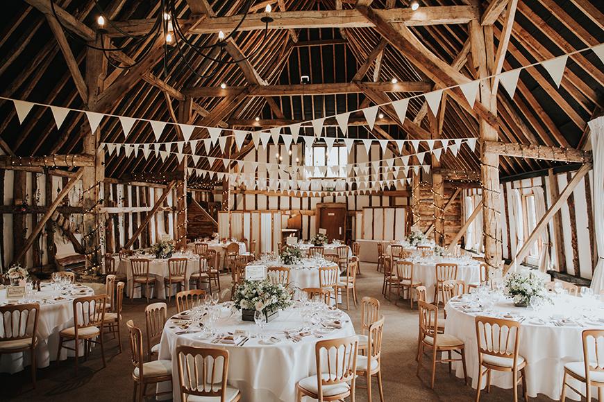 6 Magical Barn Wedding Venues In Hampshire - Clock Barn | CHWV