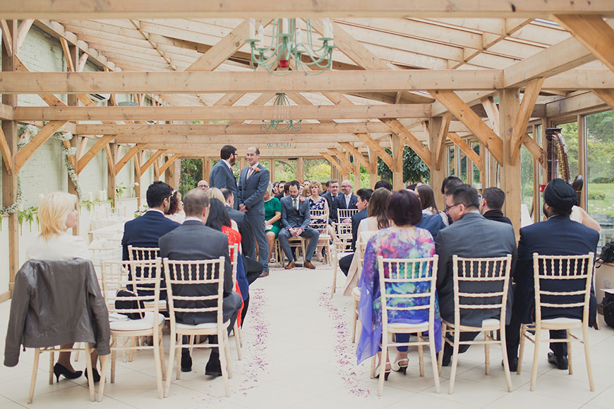 Maria and Chris' real life wedding at Gaynes Park - The Orangery | CHWV