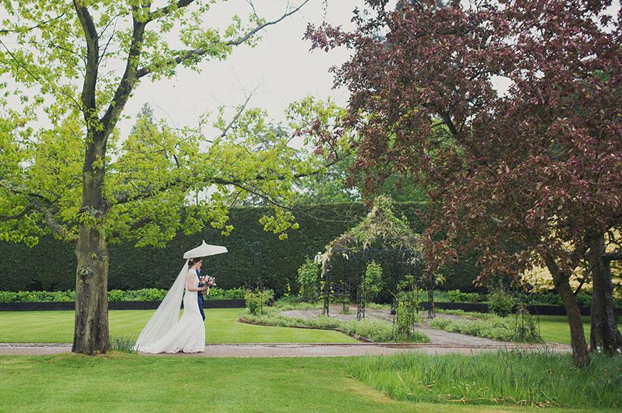 Maria and Chris' real life wedding at Gaynes Park - Walking up the aisle | CHWV