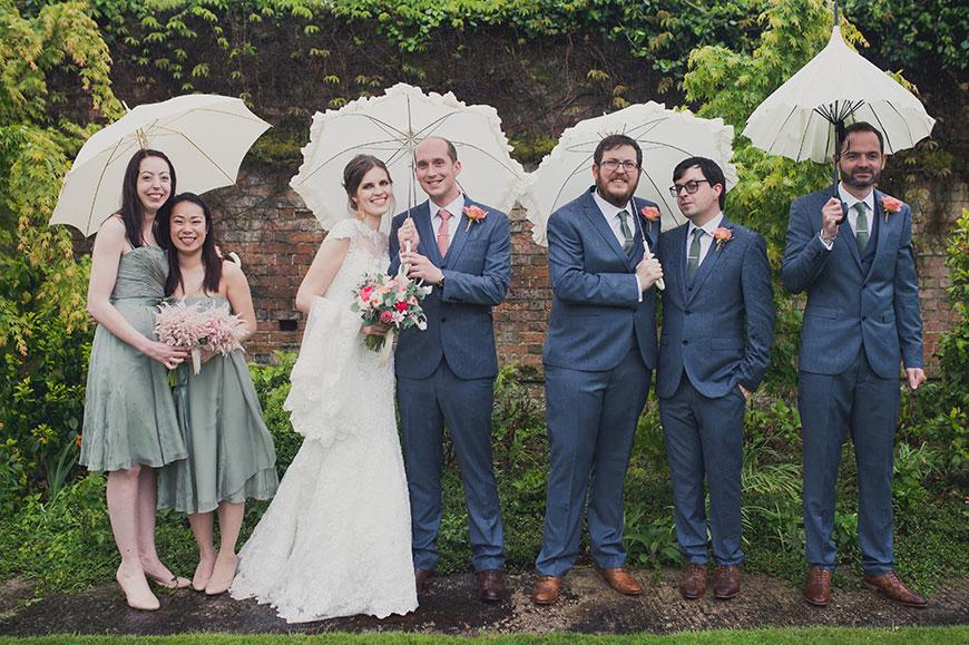 Maria and Chris' real life wedding at Gaynes Park - The bridal party | CHWV