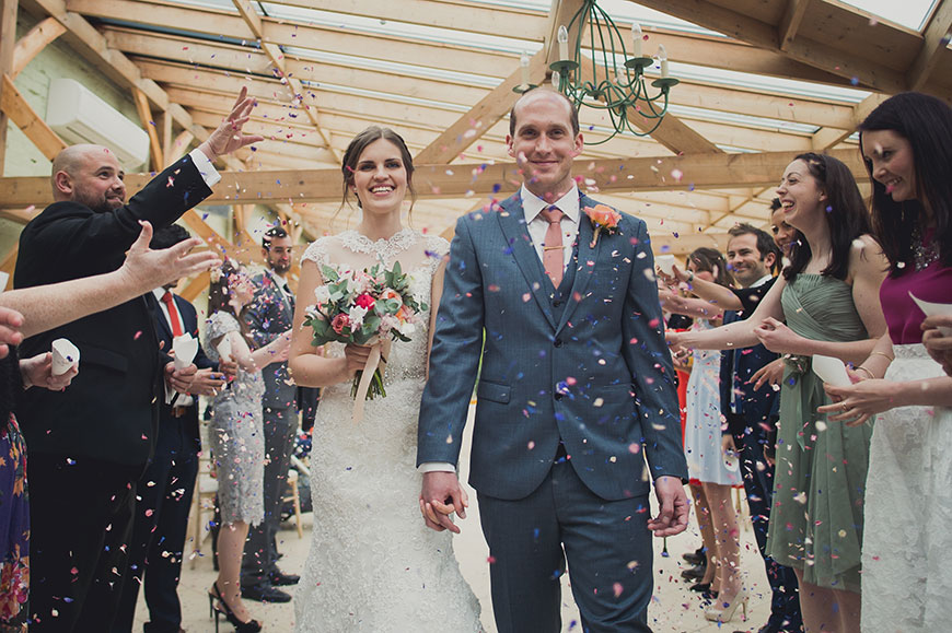 Maria and Chris' real life wedding at Gaynes Park - Confetti | CHWV