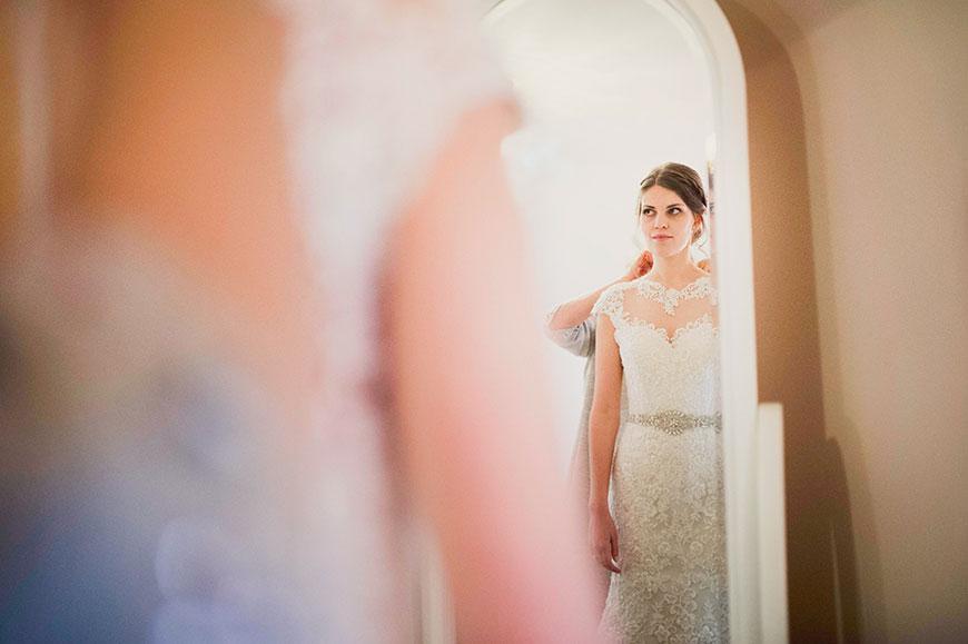 Maria and Chris' real life wedding at Gaynes Park - Maria's dress | CHWV