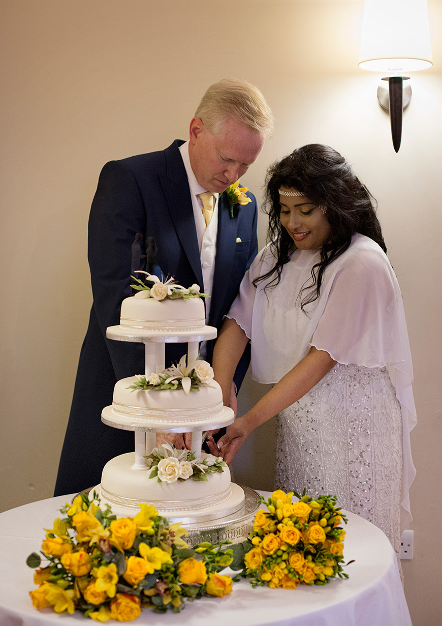 Lynn and Mark's Bright and Beautiful Yellow Wedding - Cake | CHWV