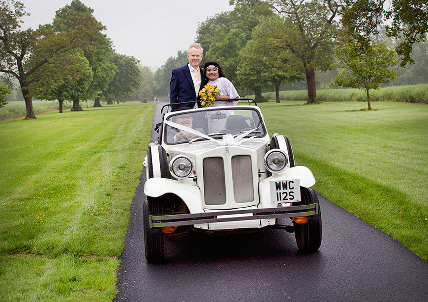 Lynn and Mark's Bright and Beautiful Yellow Wedding - Car | CHWV