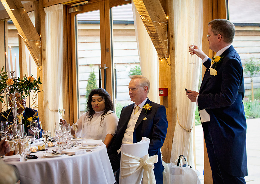 Lynn and Mark's Bright and Beautiful Yellow Wedding - Speeches | CHWV