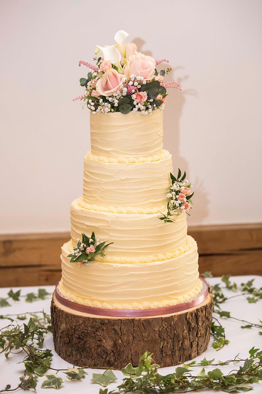 Micaela and Garry's Lively Wedding at Sandhole Oak Barn - Cake | CHWV