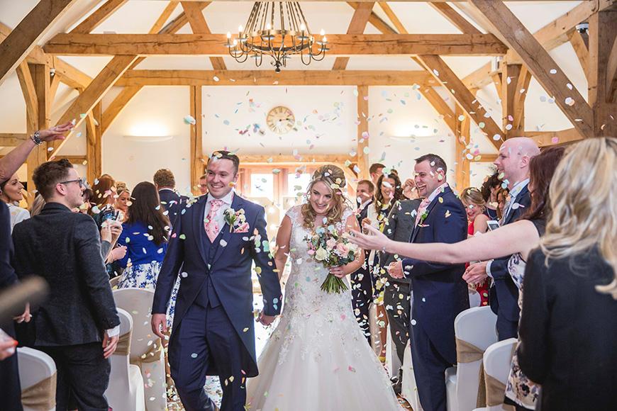 Micaela and Garry's Lively Wedding at Sandhole Oak Barn - Ceremony | CHWV