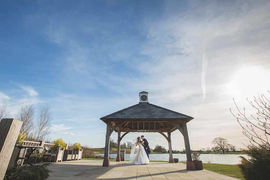 Micaela and Garry's Lively Wedding at Sandhole Oak Barn - Clock Tower | CHWV