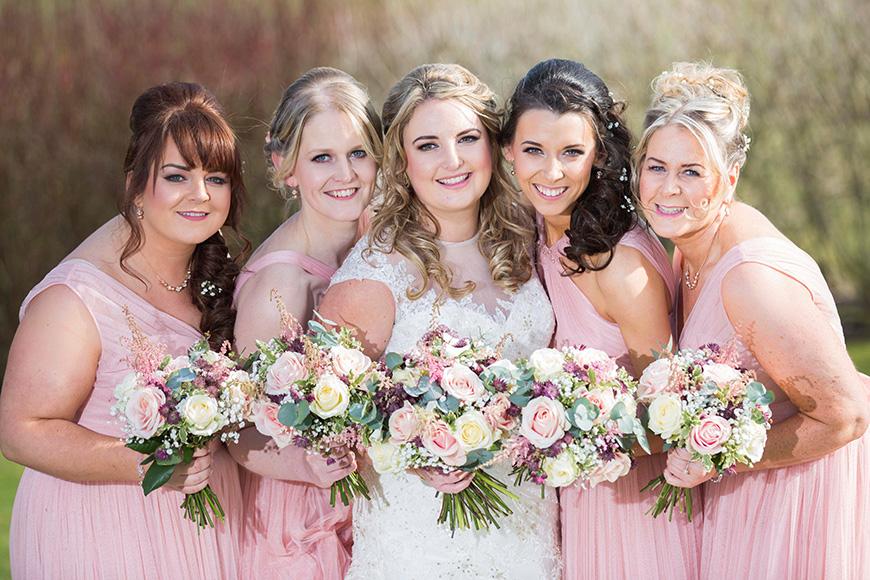 Micaela and Garry's Lively Wedding at Sandhole Oak Barn - Dresses | CHWV