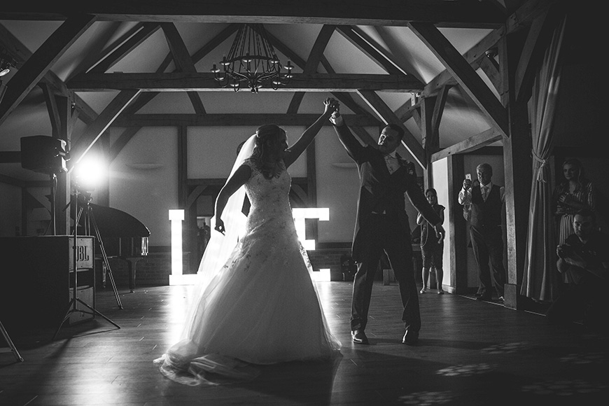 Micaela and Garry's Lively Wedding at Sandhole Oak Barn - First dance | CHWV