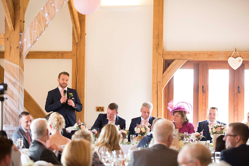 Micaela and Garry's Lively Wedding at Sandhole Oak Barn - Speeches | CHWV