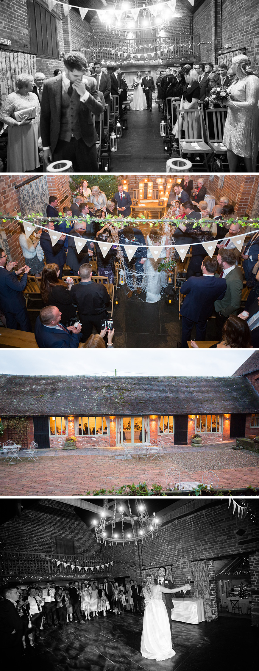Real Wedding - Michelle and James's Romantic Christmas Wedding at Curradine Barns | CHWV