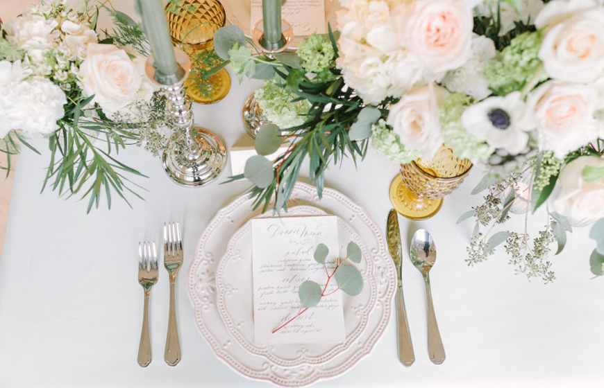 Neo Mint Green Wedding Ideas - Table decorations | CHWV