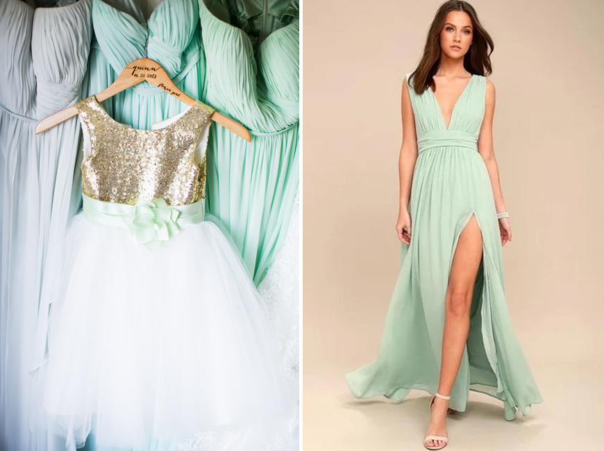Neo Mint Green Wedding Ideas - Dresses | CHWV