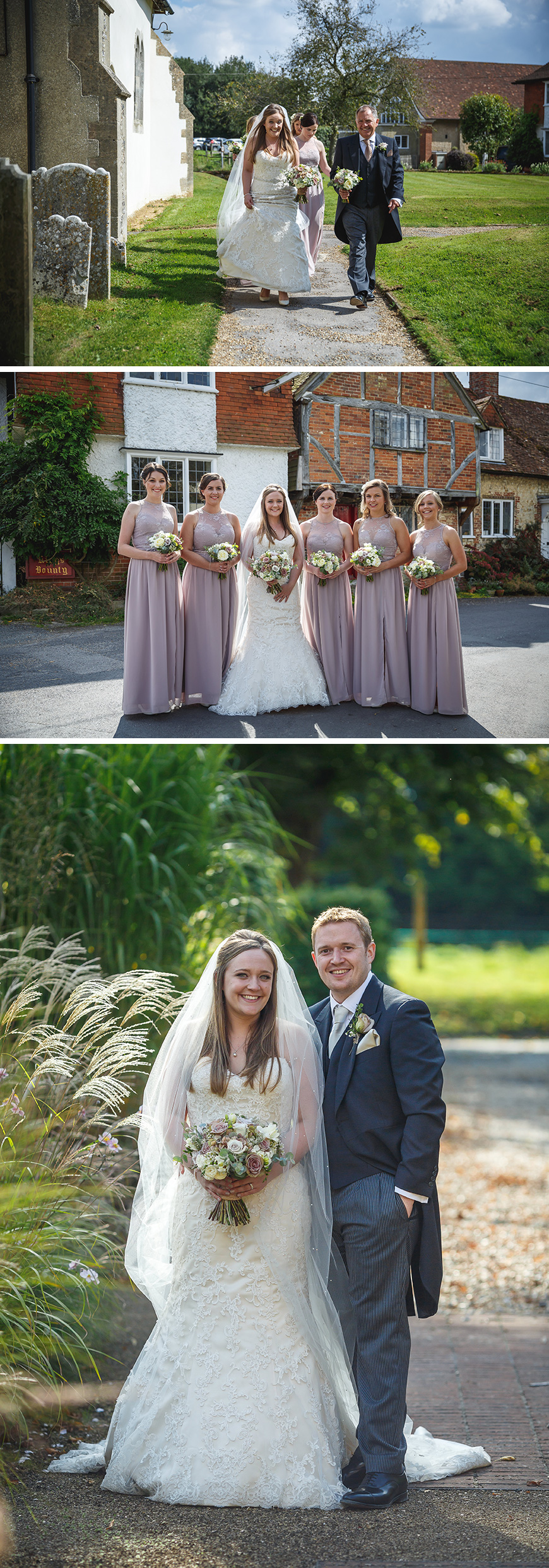 Real Wedding - Natalie & Dave's Idyllic Summer Wedding at Bury Court Barn | CHWV