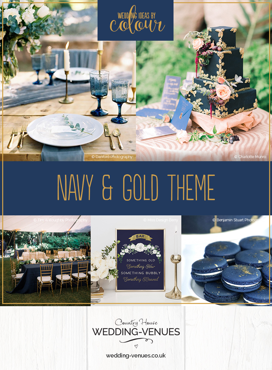 Navy And Gold Wedding Theme Wedding Ideas By Colour Chwv