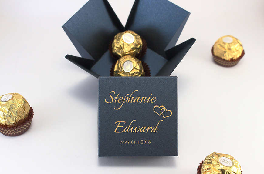 Wedding Ideas By Colour: Navy and Gold Wedding Theme - Favours | CHWV