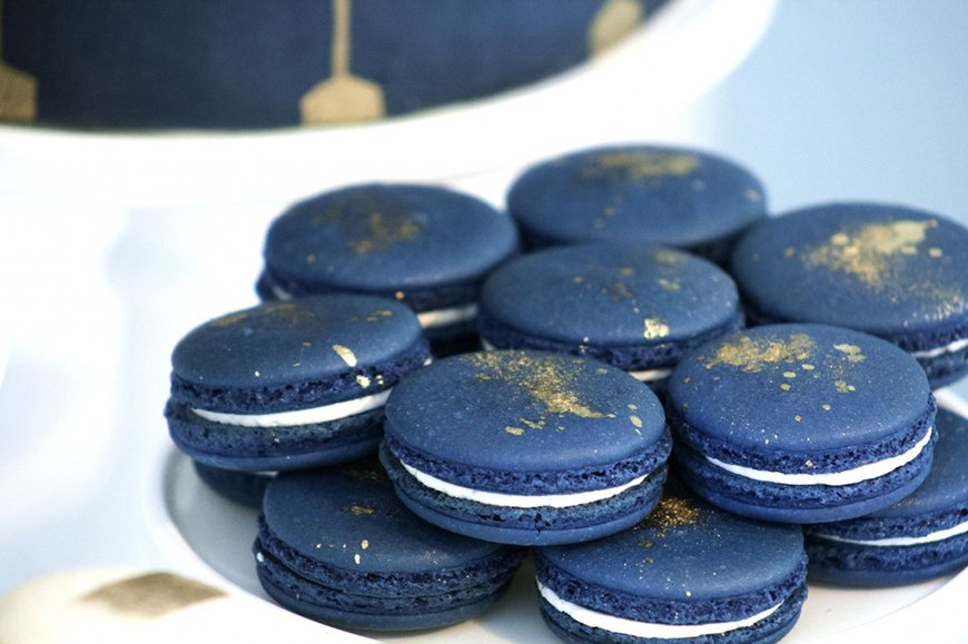 Wedding Ideas By Colour: Navy and Gold Wedding Theme - Macaron | CHWV