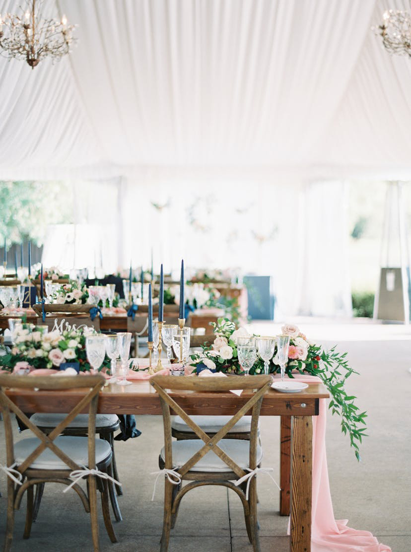 Wedding Ideas By Colour: Navy Wedding Decorations - On the table | CHWV