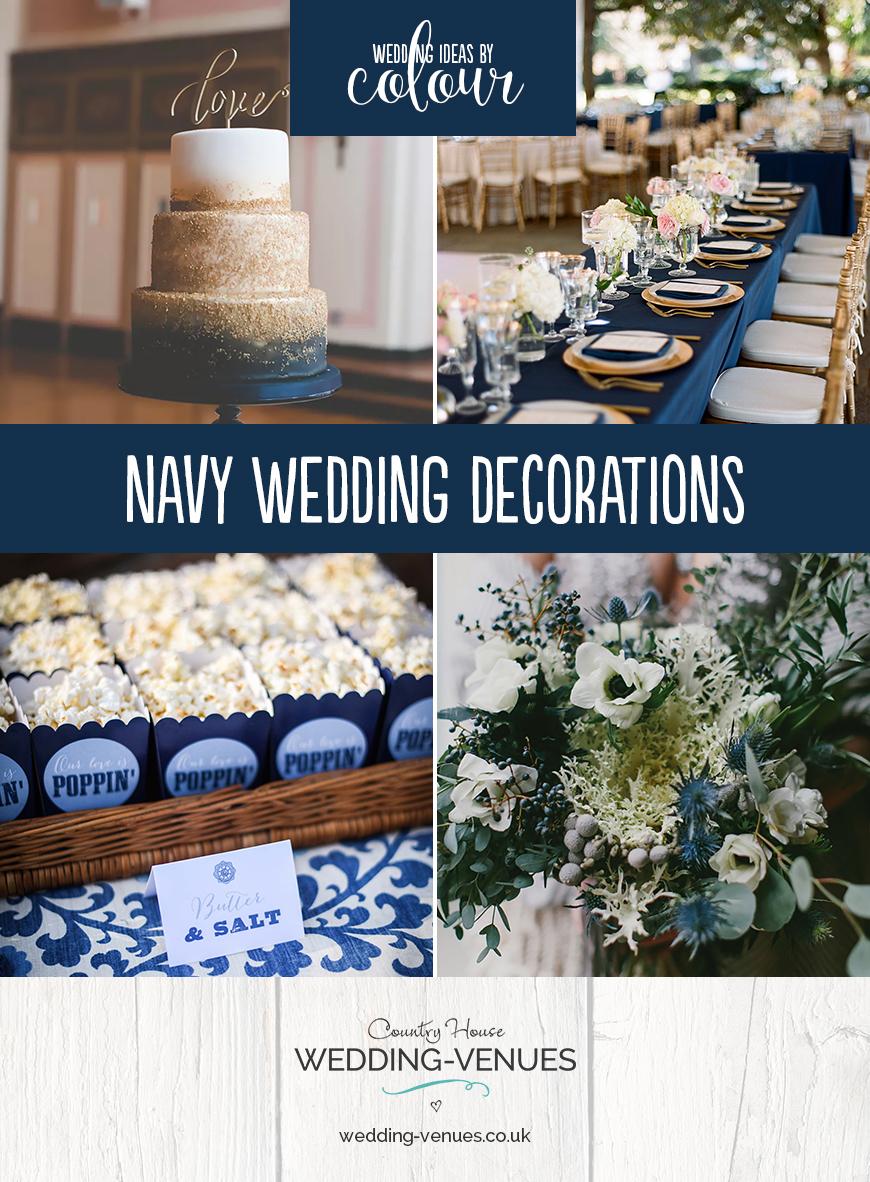 Wedding Ideas By Colour: Navy Wedding Decorations | CHWV