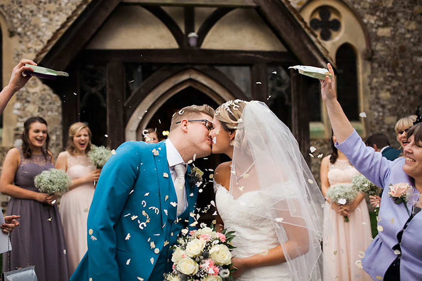 A Romantic Countryside Wedding at Clock Barn - Confetti | CHWV