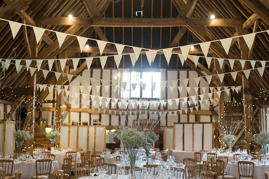 A Romantic Countryside Wedding at Clock Barn - The decorations | CHWV