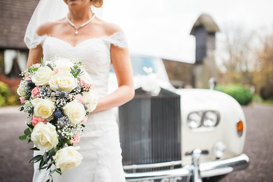 A Romantic Countryside Wedding at Clock Barn - Nicky's dress | CHWV