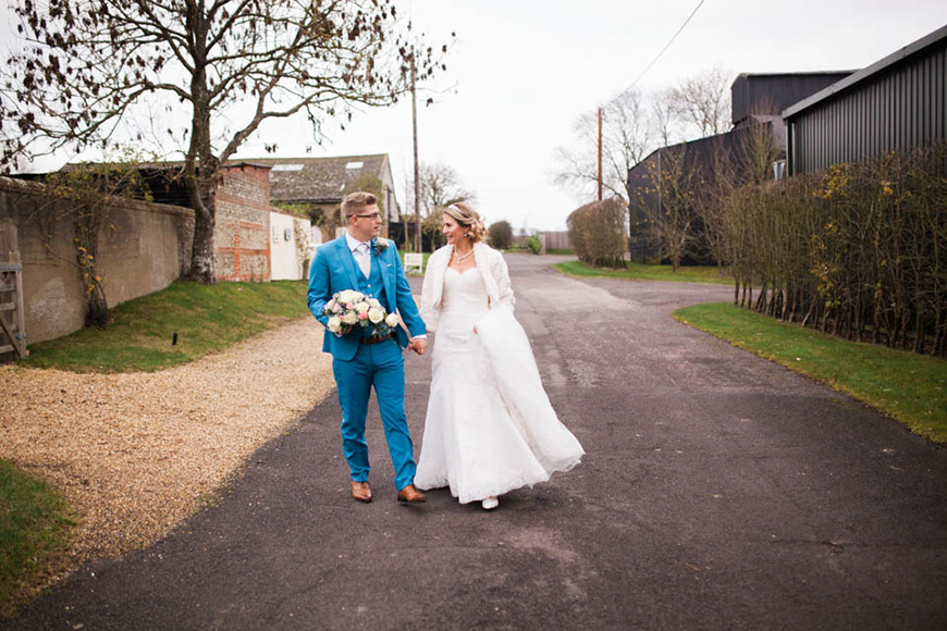 A Romantic Countryside Wedding at Clock Barn - Happy couple | CHWV