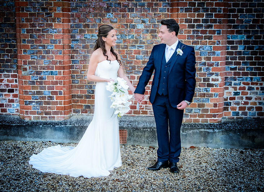 Nicola and Grant's real wedding at Wasing Park - Their outfits | CHWV
