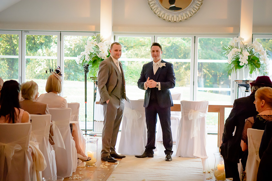 Nicola and Grant's real wedding at Wasing Park - Grant's suit | CHWV
