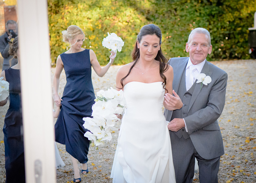 Nicola and Grant's real wedding at Wasing Park - Walk to ceremony | CHWV