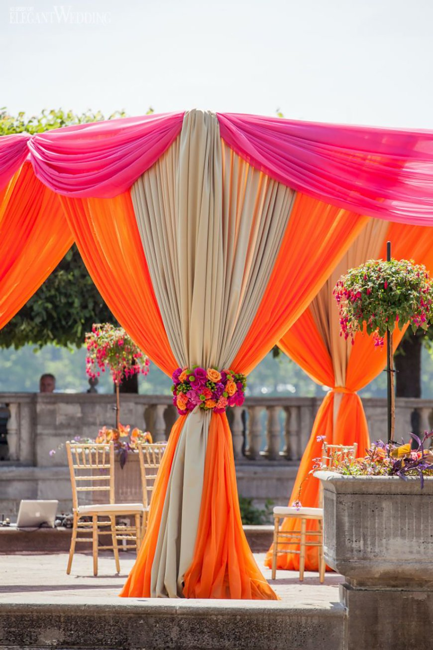 Wedding Ideas By Colour: Orange Wedding Theme - Decor | CHWV