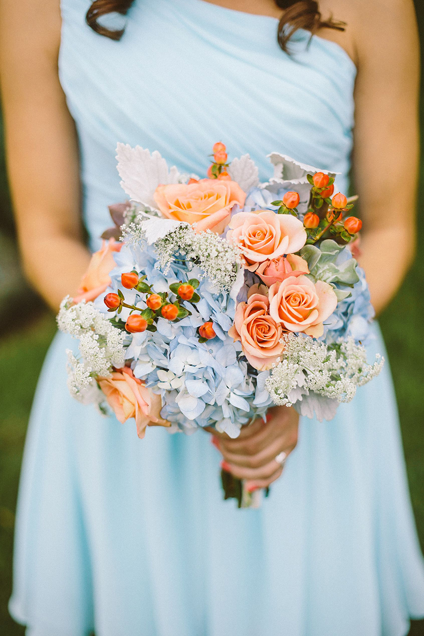 Wedding Ideas By Colour: Orange Wedding Theme - Bridal style | CHWV