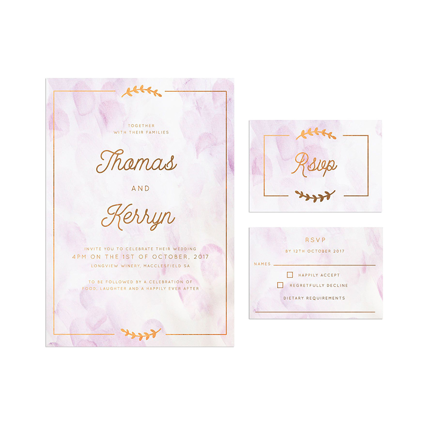 Wedding Ideas By Pantone Colour: Pink Lavender - Stationery | CHWV