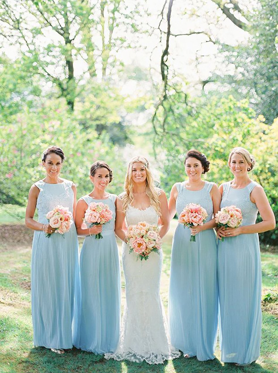 Pastel blue bridesmaid dresses wedding ideas chwv wedding ideas by colour pastel blue bridesmaid dresses ombrellifo Image collections