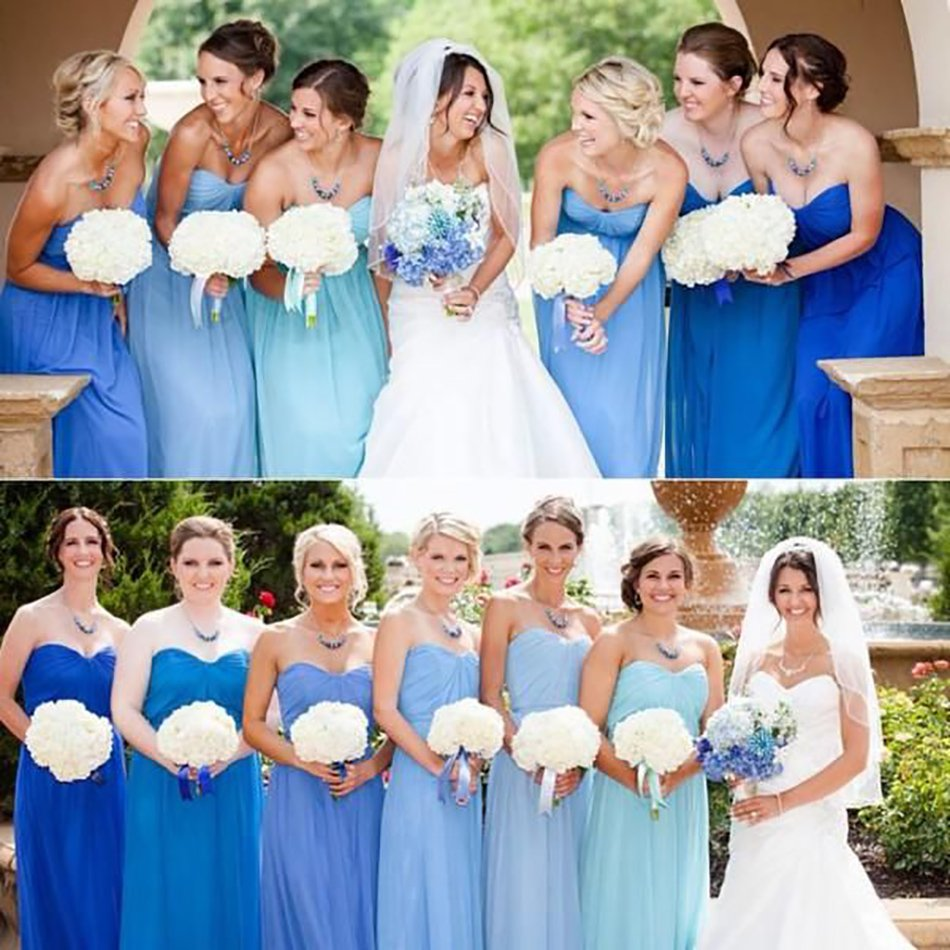 Pastel Blue Wedding Theme: Pastel Blue Bridesmaid Dresses