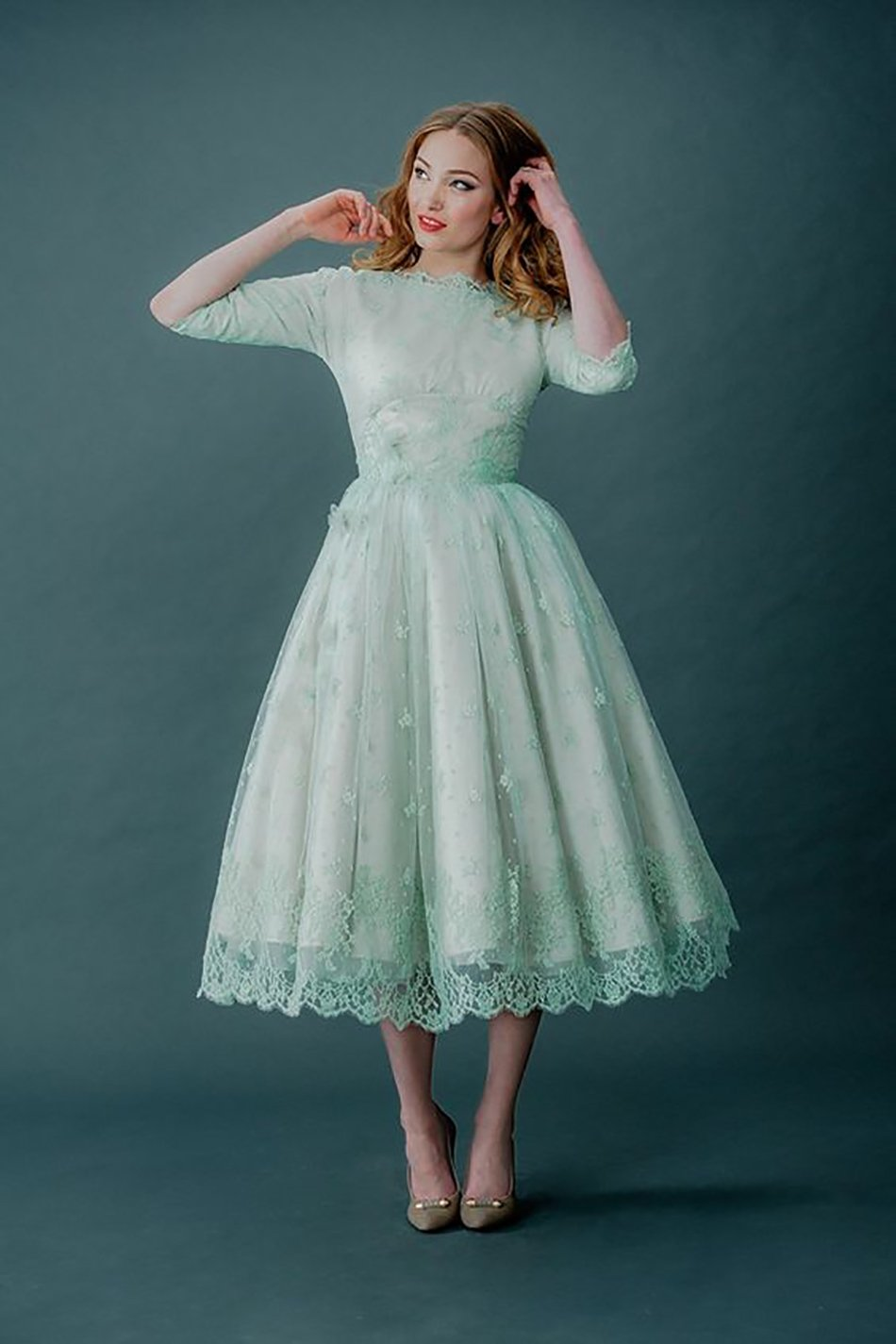Wedding Ideas By Colour: Pastel Green Wedding Dress