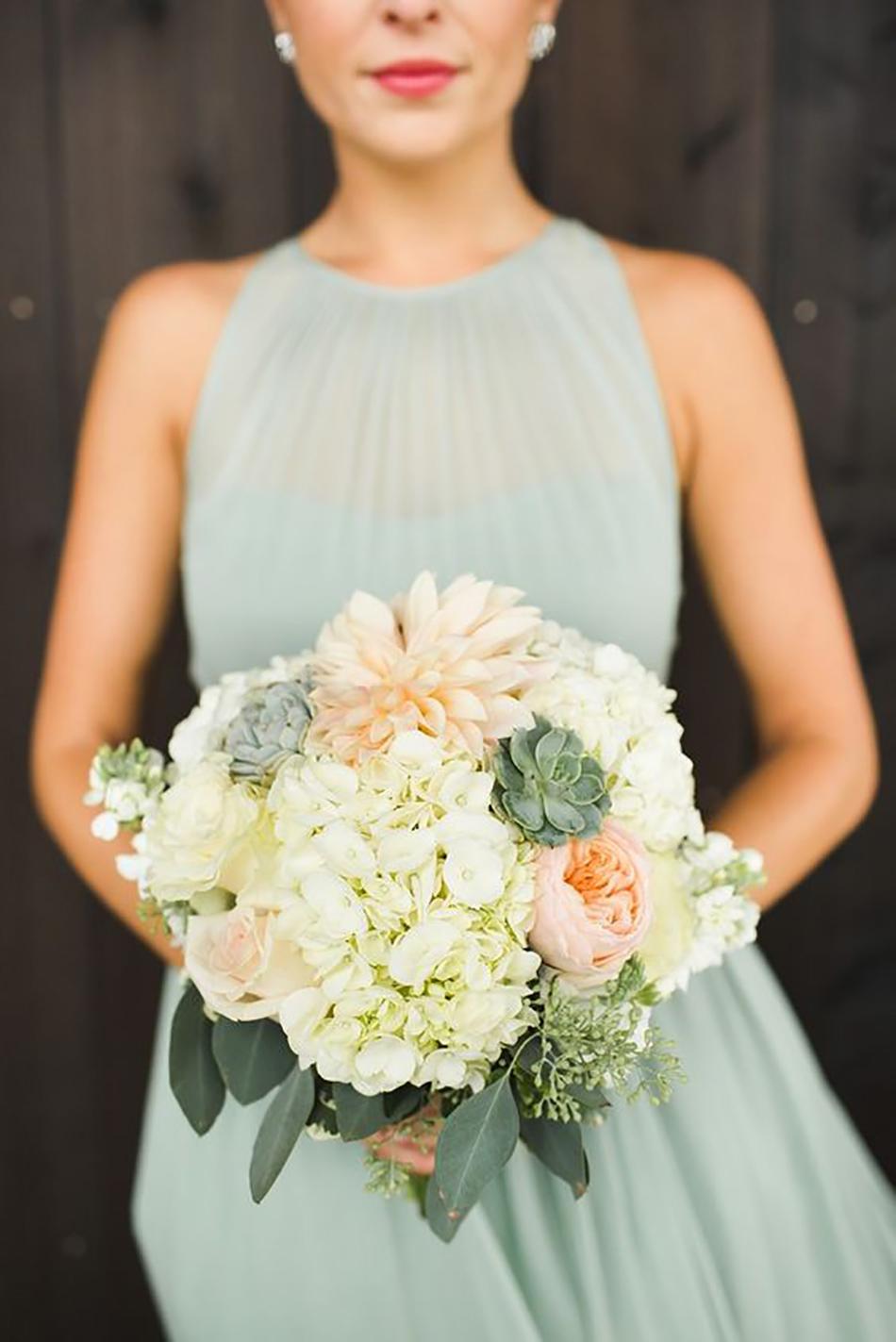 Wedding ideas by colour: pastel green wedding dress