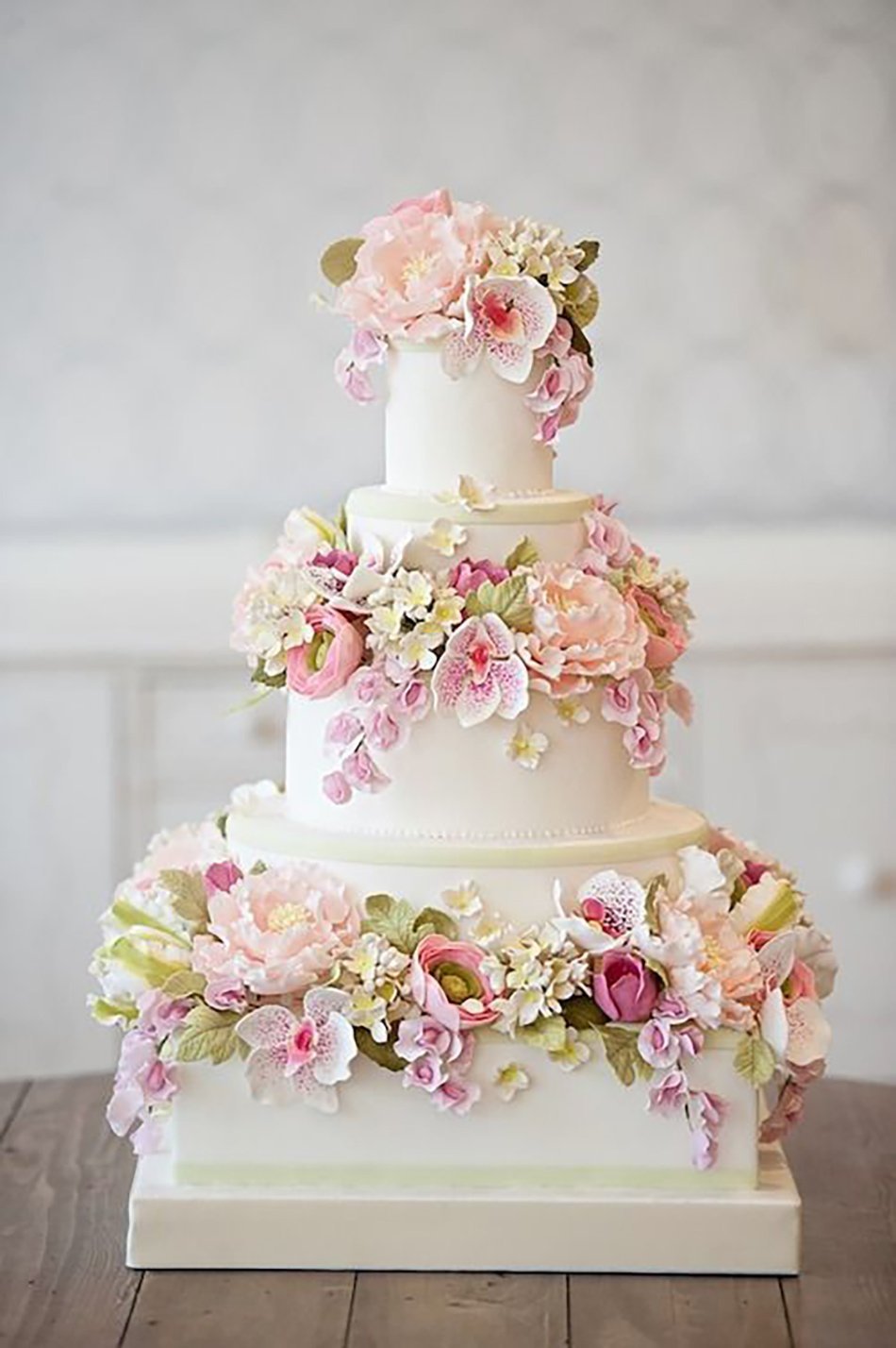 Pastel Pink Wedding Cakes Chwv