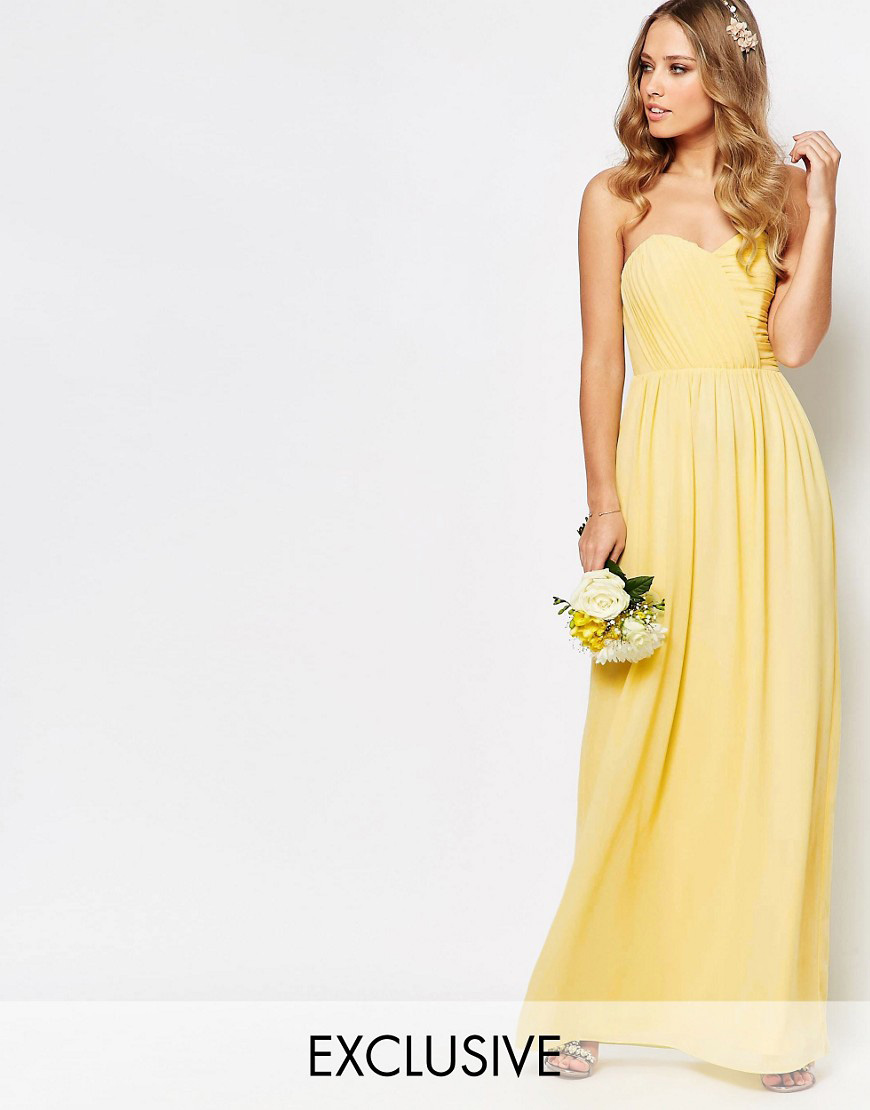 Asos yellow wedding dress