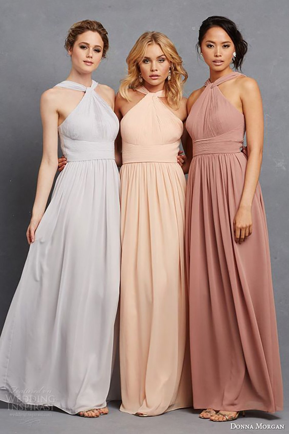 Wedding ideas by colour: Peach bridesmaids dresses - Different colours | CHWV