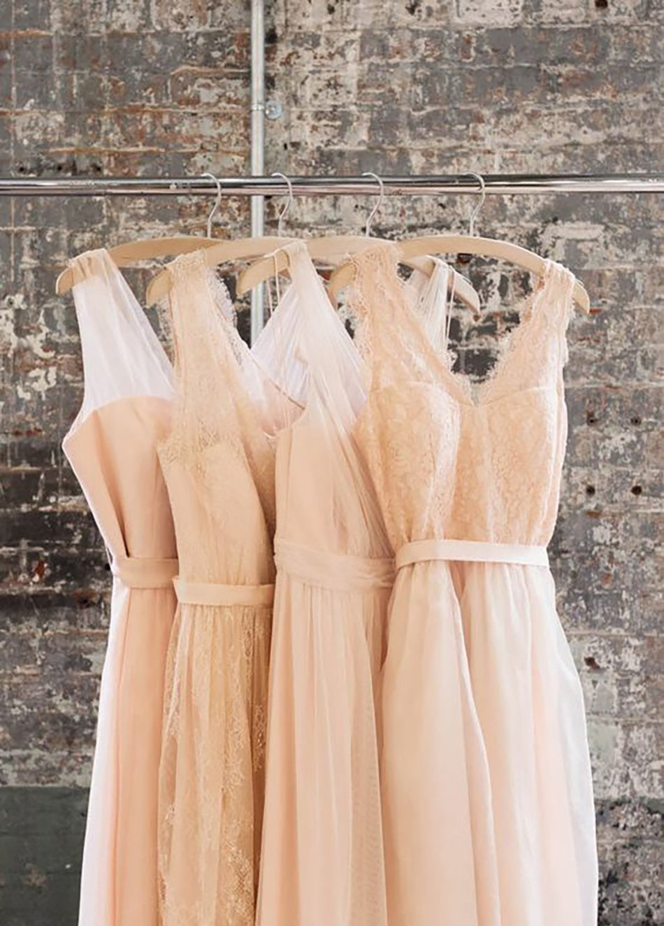 Wedding ideas by colour: Peach bridesmaids dresses - Different styles | CHWV
