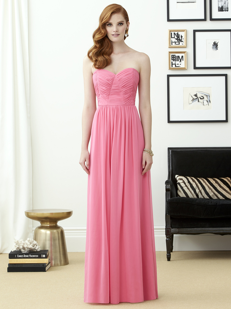 Wedding ideas by colour: Peach bridesmaids dresses - Pink | CHWV