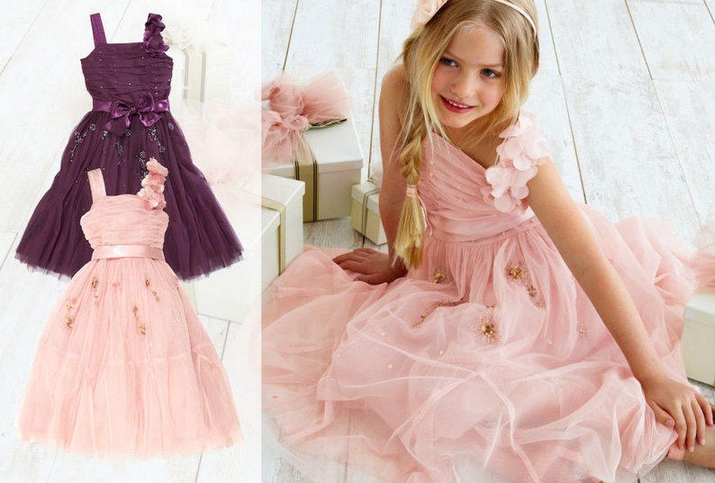Wedding Ideas by Colour: Pink Flower Girl Dresses - Next | CHWV