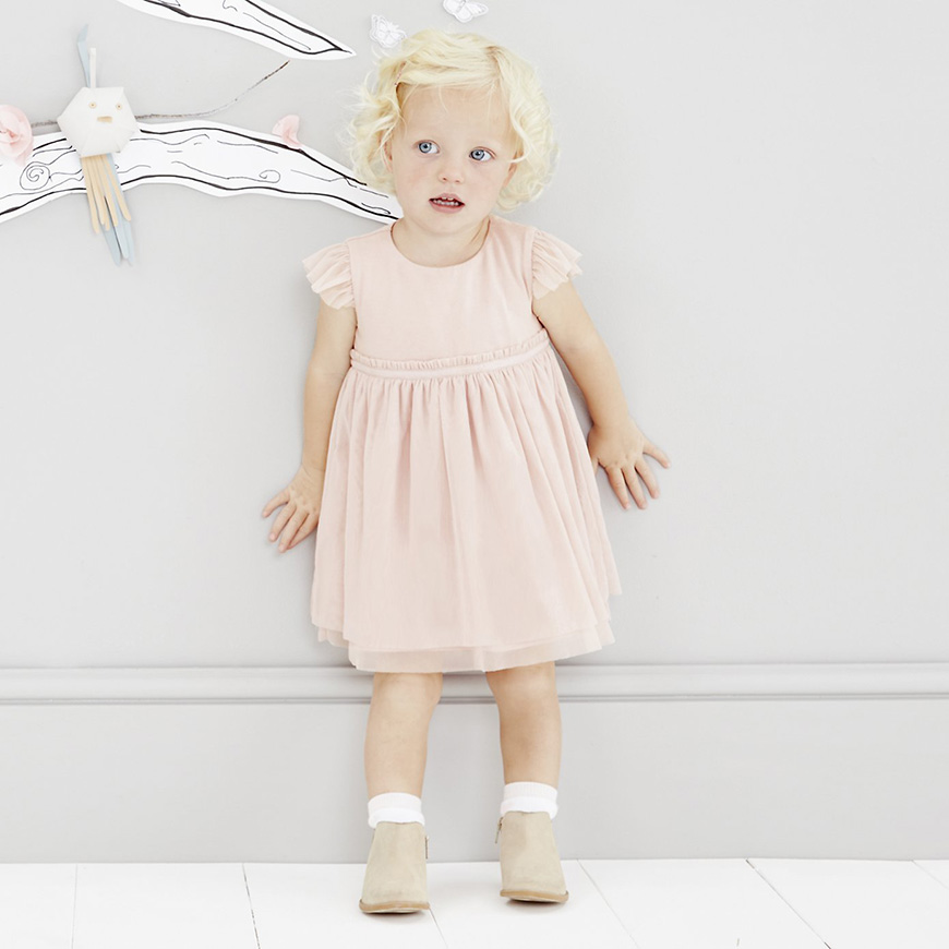 Wedding Ideas by Colour: Pink Flower Girl Dresses - The White Company | CHWV