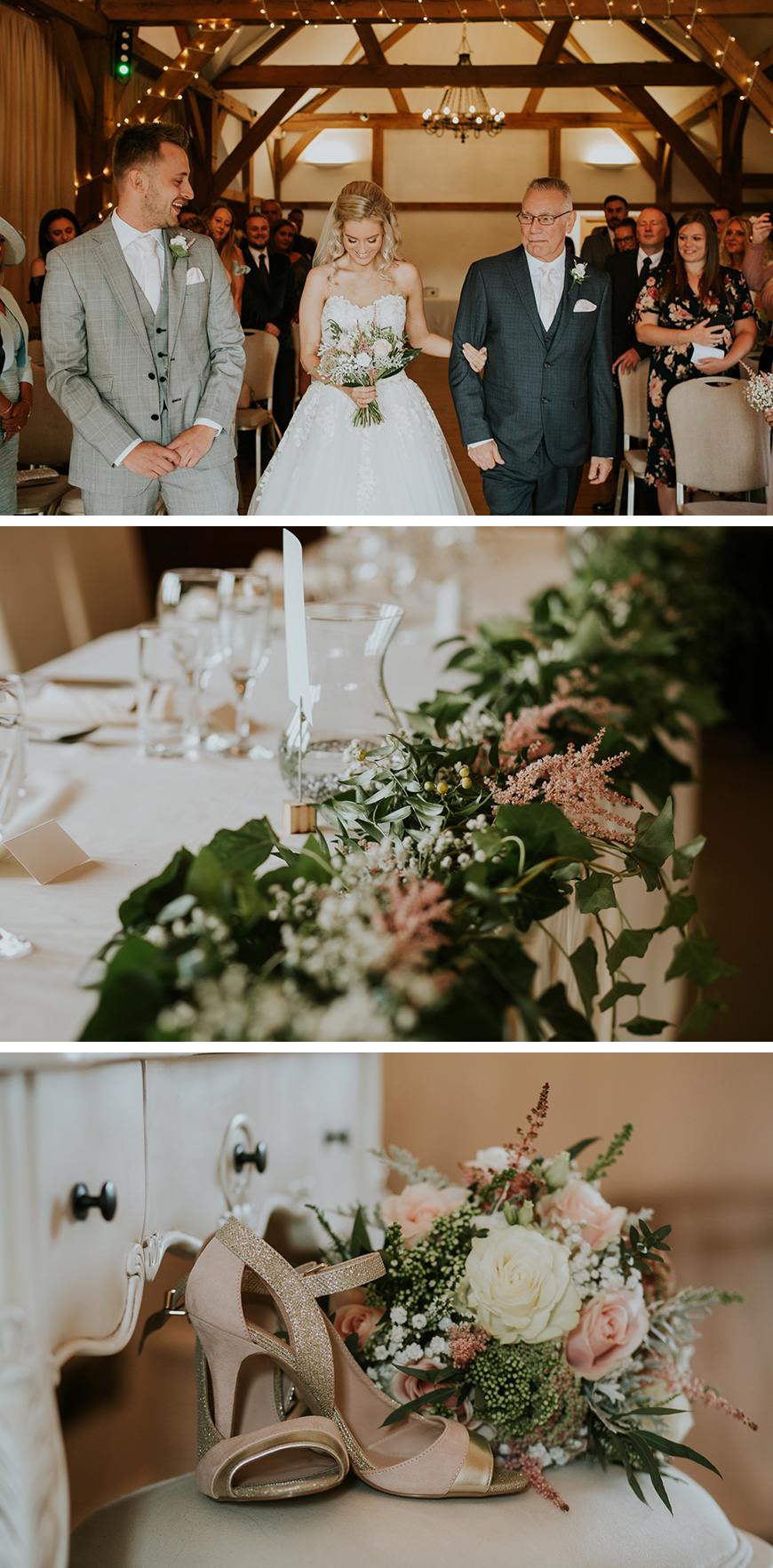 Real Wedding - Pip and Anthony's New York-themed day at Sandhole Oak Barn | CHWV