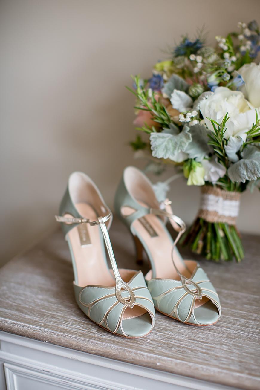 Wedding Ideas By Colour: Pistachio Green Wedding Theme - Bridal shoes | CHWV
